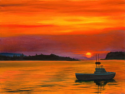 Sunrise In Maine Poster by Phillip Compton