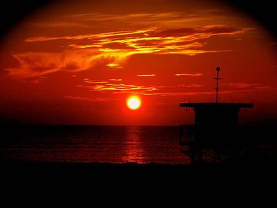 Sunrise In Miami Beach Poster