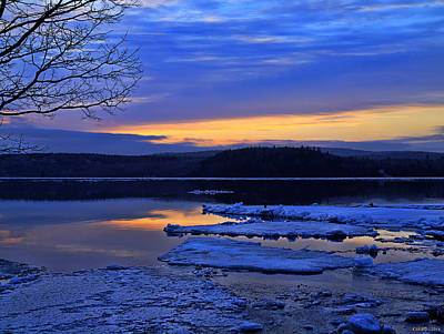Sunrise In New Brunswick Poster by Ken Morris