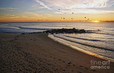 Poster featuring the photograph Sunrise In Ocean Grove by Debra Fedchin