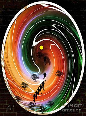 Sunrise Joggers  Poster