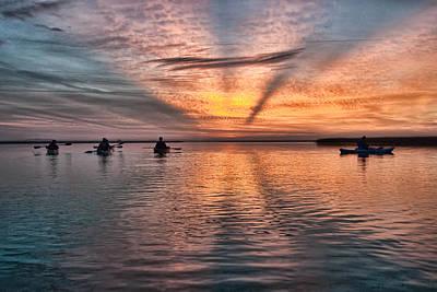 Sunrise Kayaking Poster