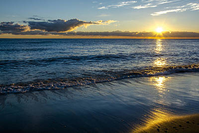 Poster featuring the photograph Sunrise Lake Michigan September 14th 2013 023 by Michael  Bennett