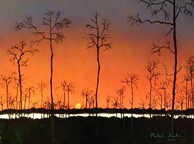 Poster featuring the painting Sunrise by Michael Rucker