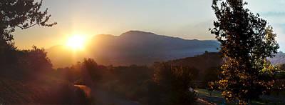 Sunrise Mount Diablo Poster by Stan Angel