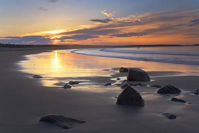 Sunrise On A Beach Near The Port Poster