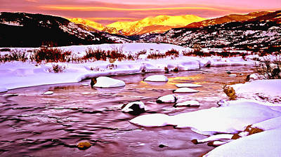 Sunrise On A Cold Day Poster by Bob and Nadine Johnston