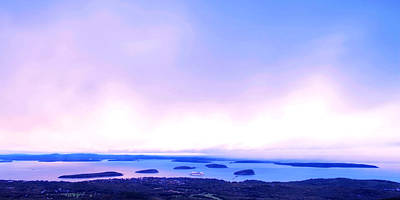 Sunrise On Cadillac Mountain Acadia National Park Poster by Paul Ge