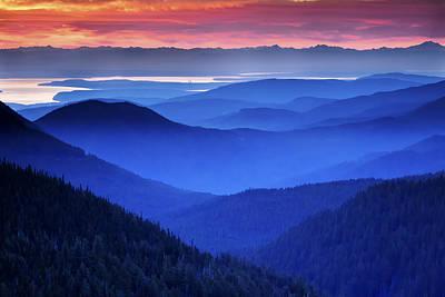 Hurricane Ridge Sunrise Poster