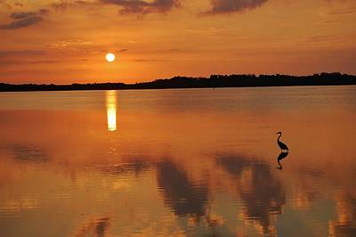 Sunrise On Indian River Lagoon  Poster by Mary Gerson