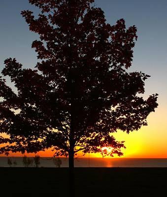 Sunrise On Lake Michigan Poster