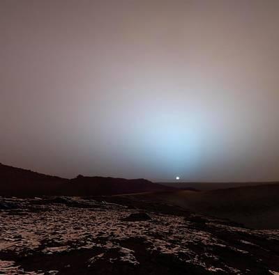 Sunrise On Mars Poster by Detlev Van Ravenswaay