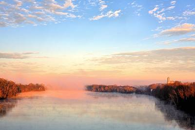 Sunrise On The Alabama River Poster by JC Findley