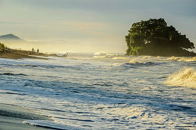 Sunrise On The Bahia Solano Beach Poster