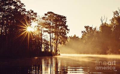 Sunrise On The Bayou Poster by Scott Pellegrin