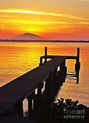 Sunrise On The Jetty Poster
