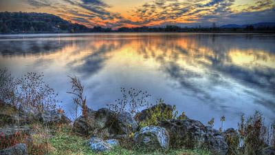 Sunrise On The Lake Poster