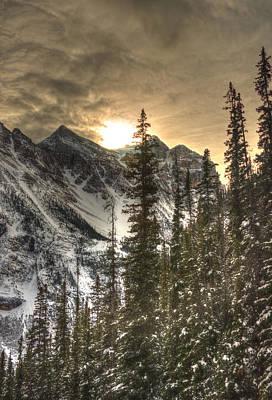 Sunrise Over A Mountain Ridge Poster