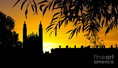 Sunrise Over Cambridge Poster by David Warrington