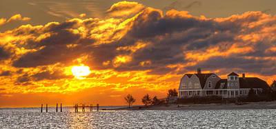 Sunrise Over Fenwick Poster