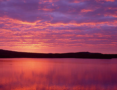 Sunrise Over Grand Lake Matagamon Poster