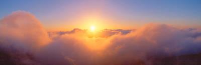 Sunrise Over Haleakala Volcano Summit Poster by Panoramic Images