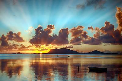 Sunrise Over Marine Corps Base Hawaii Poster