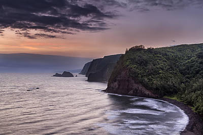 Sunrise Over Pololu Valley Poster