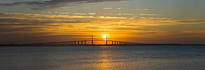 Sunrise Over Sunshine Skyway Bridge Poster