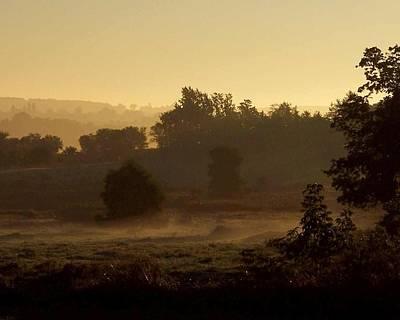 Sunrise Over The Mist Poster
