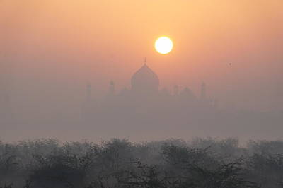 Sunrise Over The Taj Poster