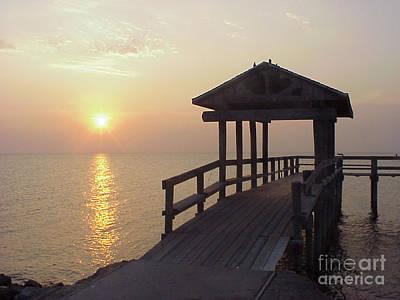 Sunrise Pier 1 Poster