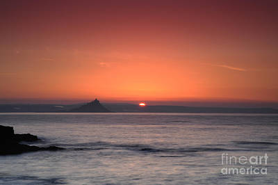 Sunrise St Michael's Mount Poster by Donald Davis