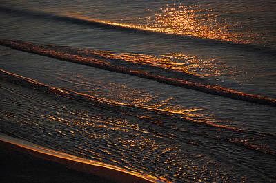 Sunrise Surf Poster by Sean Holmquist