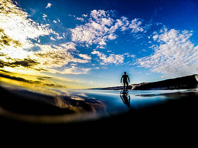 Sunrise Surfer Poster