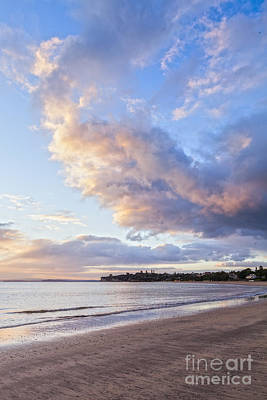 Sunrise Takapuna Beach Auckland Poster by Colin and Linda McKie
