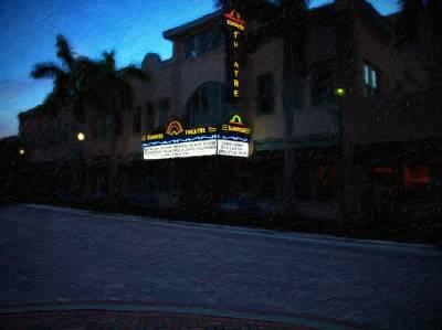 Sunrise Theater Fort Pierce Poster by Richard Hemingway