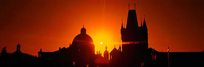 Sunrise Tower Charles Bridge Czech Poster by Panoramic Images