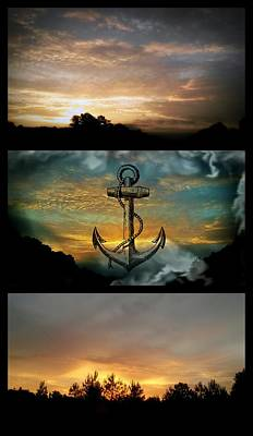 Sunrise Triptych Poster by Maria Urso