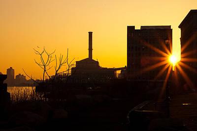 Sunrise Under The Manhattan Bridge Poster by Keith Yates
