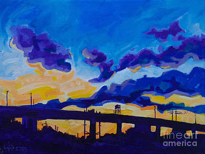 Sunrise Under The Overpass Poster by Michael Ciccotello