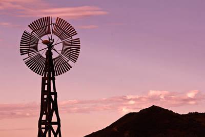 Sunrise Windmill Poster