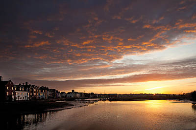 Poster featuring the digital art Sunrise Wivenhoe by David Davies
