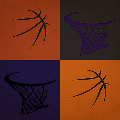 Suns Ball And Hoop Poster by Joe Hamilton