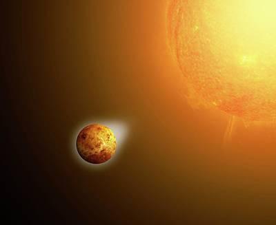 Sun's Gravitational Pull On Venus Poster