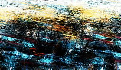 Poster featuring the digital art Sunset 083014 by David Lane