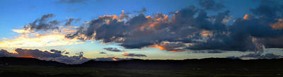 Sunset And Silhouettes - Panoramic Poster by Glenn McCarthy