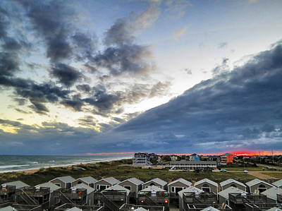 Sunset And Storm Clouds Cape Hatteras Poster