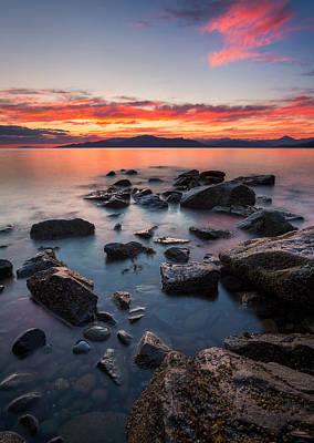 Sunset At Acadia Beach Poster