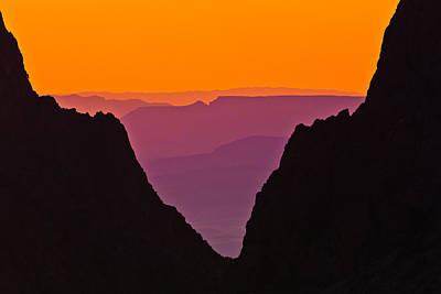 Sunset At Big Bend Poster